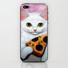 WHITE PIZZA CAT iPhone & iPod Skin