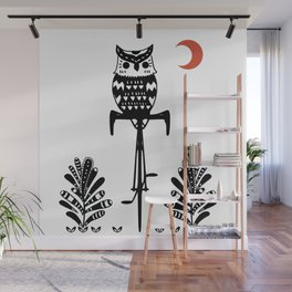 Boho Animals Owl Wall Mural