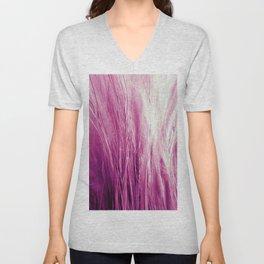 Feather Grass Pink Unisex V-Neck