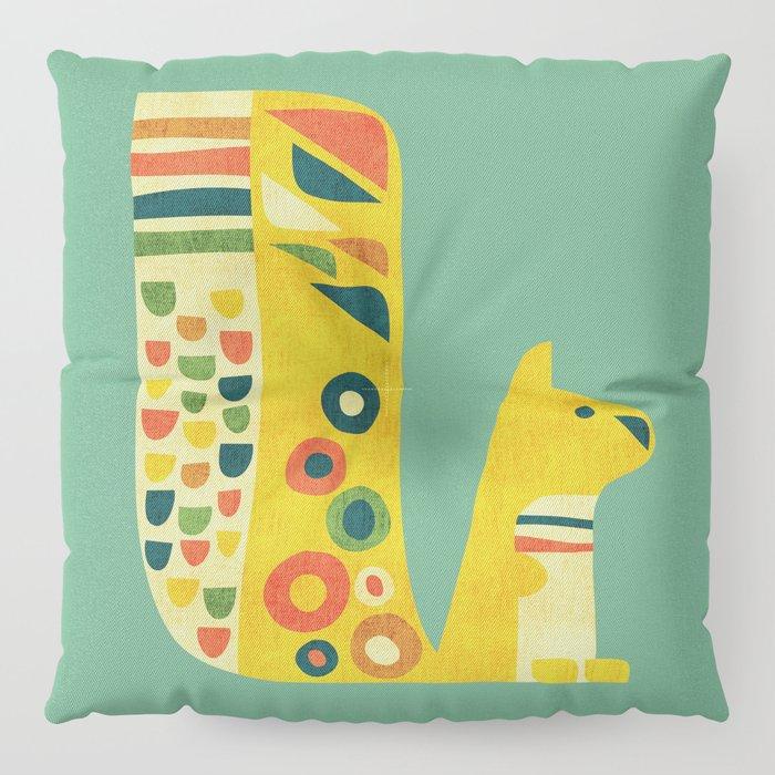Century Squirrel Floor Pillow