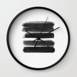 Stripes - No Comment #1 #minimal #painting #decor #art #society6 Wall Clock
