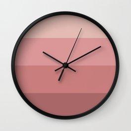 Minimal Retro Sunset / Sunrise - Warm Pink Wall Clock