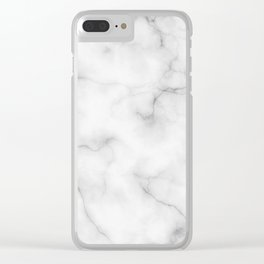 Real Marble Clear iPhone Case