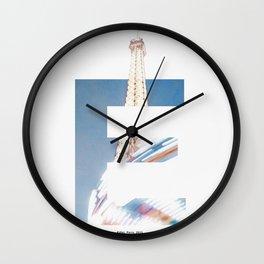 E for Eiffel Wall Clock