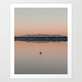 Sunrise droplet reflection in New Mexico Art Print