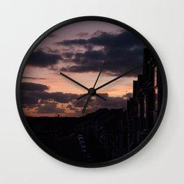 See me at sundown I Wall Clock