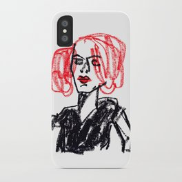 red hair girl iPhone Case