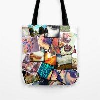 instagram Tote Bags featuring Instagram  by Nic Moore