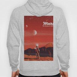 Mars Vintage Space Travel poster Hoody