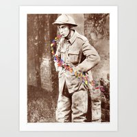 soldier Art Prints featuring Soldier by Ben Giles