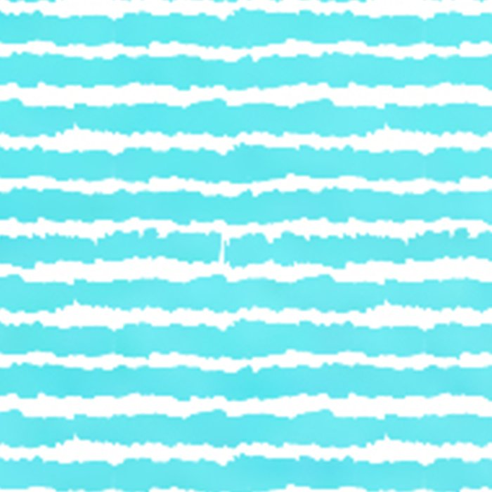 Maritime pattern- Simply aqua handpainted stripes on clear white- horizontal Leggings