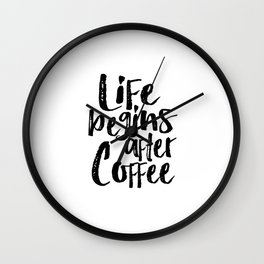 life begins after coffee,but first coffee,coffee sign,kitchen sign,home decor wall art,morning Wall Clock