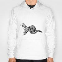 ferret Hoodies featuring Ferret Design by Tara Prince