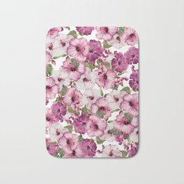 Hibiscus Pattern Bath Mat