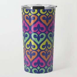 Fleur De lis & Hearts Travel Mug