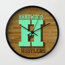Hardwood Hustlers Wall Clock