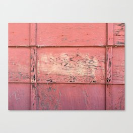 Weathered Red Siding Canvas Print
