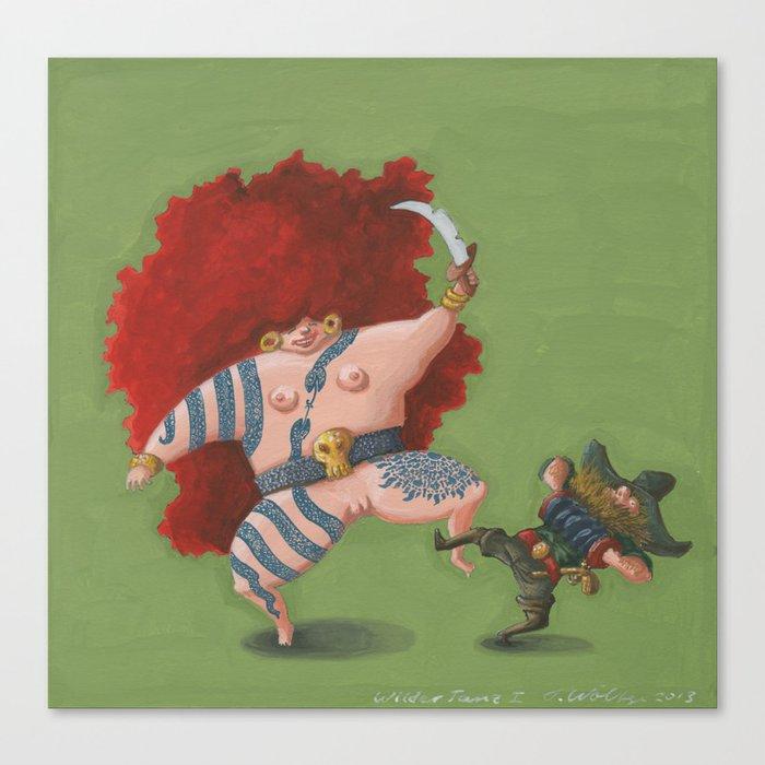 Wild Dance I (Wilder Tanz I) Canvas Print