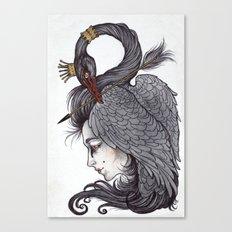 Swan Song art print Canvas Print