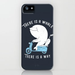 There is a whale iPhone Case
