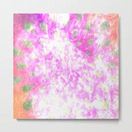 Tie Dye Teardrops (Pink) Metal Print