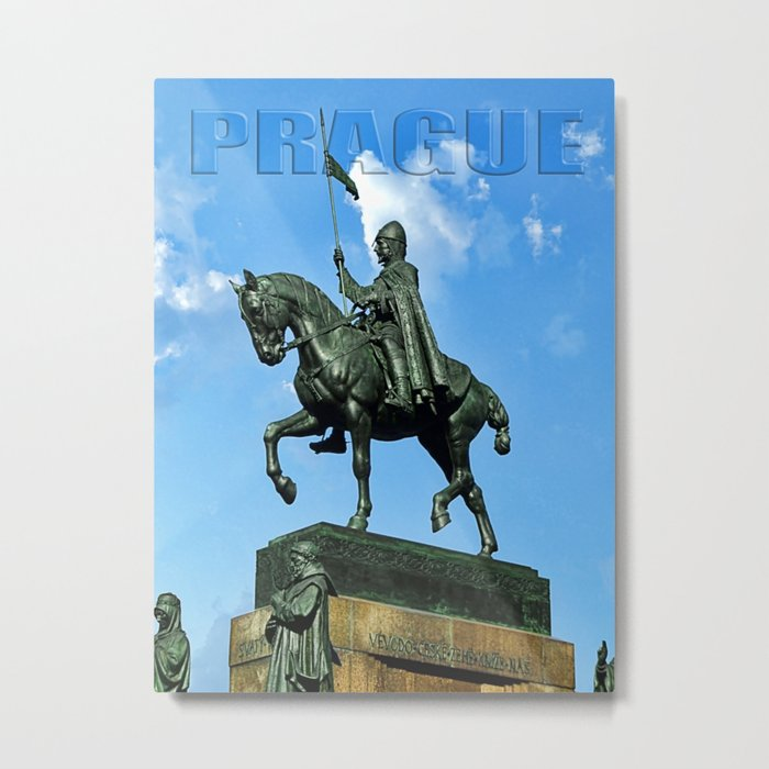 Prague Good King Vaclav Metal Print