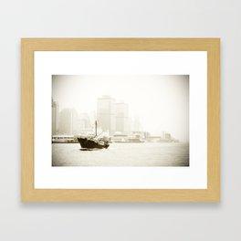 River Boat Framed Art Print