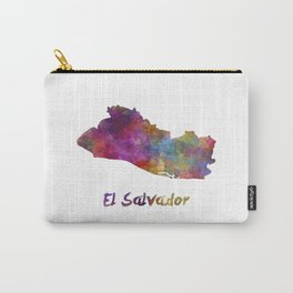 El Salvador in watercolor Carry-All Pouch