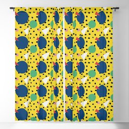 Leopard Geo Mix Pattern Multi Color - Yellow Blackout Curtain