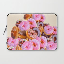 PHOTO PINK & CHOCOLATE  DONUTS ART Laptop Sleeve