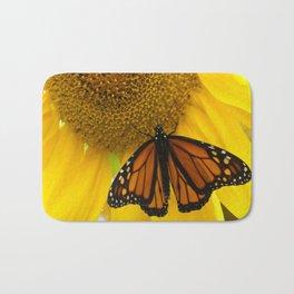 Monarch and Sunflower Bath Mat