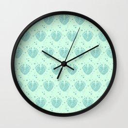 Baby feet background  3 Wall Clock