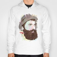 hipster Hoodies featuring Hipster by jnk2007