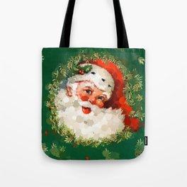 Bubble Dot Santa Christmas Tote Bag