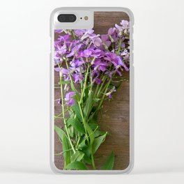 Wildflower Dinner Clear iPhone Case