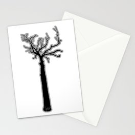 Black & White Tree's Stationery Cards