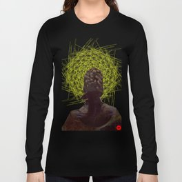 HelloHorrror Issue 8 Cover Detail - Victorian woman stares into the abyss Long Sleeve T-shirt