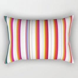 Colorful Stripes Barcode 80s Rectangular Pillow
