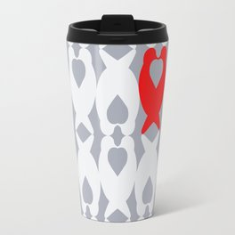 Love Birds Pattern Travel Mug