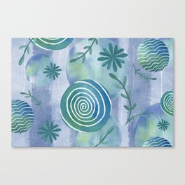 Blue Country Teal Canvas Print