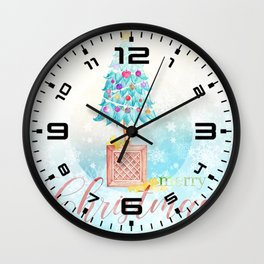 Merry Christmas tree #4 Wall Clock
