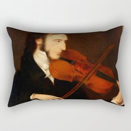 Niccolò Paganini by Daniel Maclise (1831) Rectangular Pillow