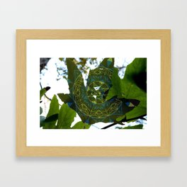 Leafy Hexagon Framed Art Print