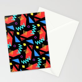 80s Squiggle Pattern Stationery Cards