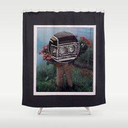 black caddy Shower Curtain