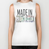 south africa Biker Tanks featuring Made In South Africa by VirgoSpice