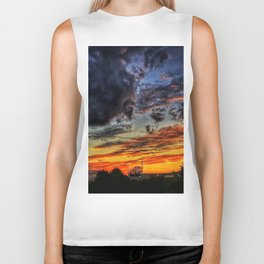Last Sunset Of Summer Biker Tank