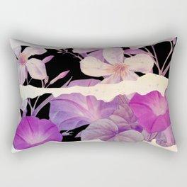 floral on torn paper Rectangular Pillow