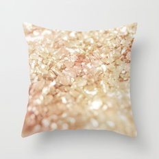 Pink and Gold Glitter  Throw Pillow