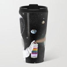 space graffiti Metal Travel Mug
